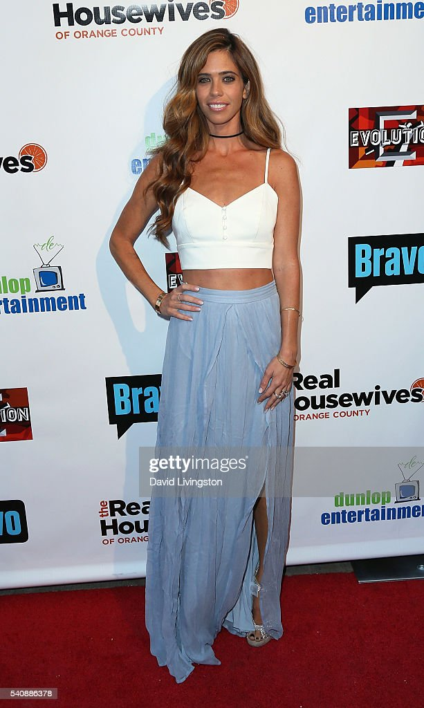 TV personality/fashion editor Lydia McLaughlin attends the premiere party for Bravo's 'The Real Housewives of Orange County' 10 Year Celebration at...