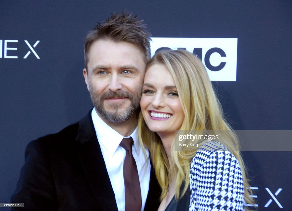TV personality/host Chris Hardwick and model/actress Lydia Hearst attend AMC Celebrates The 100th Episode of 'The Walking Dead' at The Greek Theatre on October 22, 2017 in Los Angeles, California.