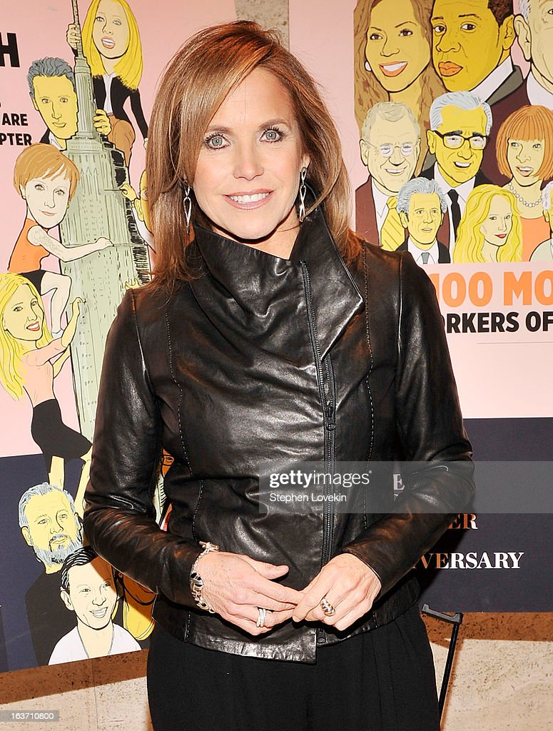 TV personality/journalist <a gi-track='captionPersonalityLinkClicked' href=/galleries/search?phrase=Katie+Couric&family=editorial&specificpeople=202633 ng-click='$event.stopPropagation()'>Katie Couric</a> attends The New York Observer 25th Anniversary Party at Four Seasons Restaurant on March 14, 2013 in New York City.