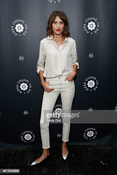 TV personality/model Alexa Chung attends the Alexa Chung for AG New York Launch Party on January 20 2015 in New York City