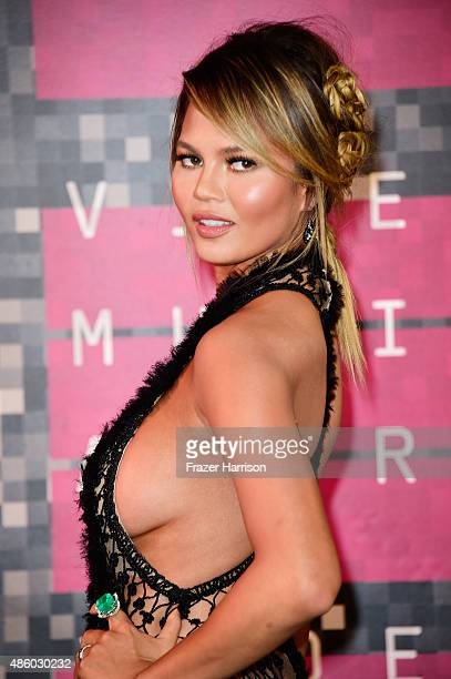 TV personality/model Chrissy Teigen attends the 2015 MTV Video Music Awards at Microsoft Theater on August 30 2015 in Los Angeles California