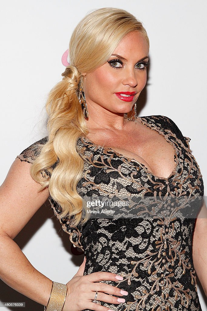 TV personality/model Coco Austin attends the Coco Licious launch party at The Raven on March 25, 2014 in New York City.