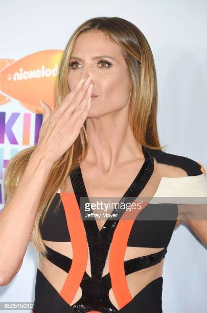 TV personality/model Heidi Klum arrives at the Nickelodeon's 2017 Kids' Choice Awards at USC Galen Center on March 11 2017 in Los Angeles California