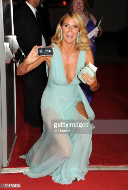 TV personality/model Heidi Klum attends the 64th Primetime Emmy Awards Governors Ball at Los Angeles Convention Center on September 23 2012 in Los...
