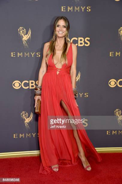 TV personality/model Heidi Klum attends the 69th Annual Primetime Emmy Awards at Microsoft Theater on September 17 2017 in Los Angeles California