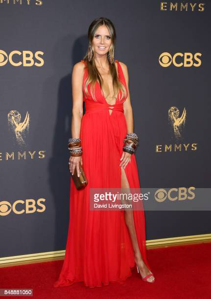 TV personality/model Heidi Klum attends the 69th Annual Primetime Emmy Awards Arrivals at Microsoft Theater on September 17 2017 in Los Angeles...