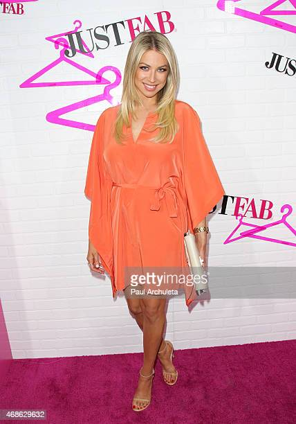 Personality/model Stassi Schroeder attends the 'JustFab' apparel launch party at The Sunset Tower on April 1 2015 in West Hollywood California