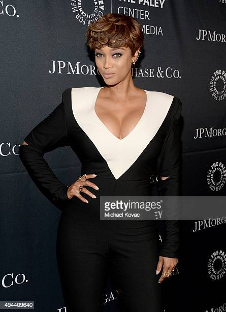 Personality/Model Tyra Banks attends the Paley Center For Media's Hollywood Tribute To AfricanAmerican Achievements in Television Presented by...