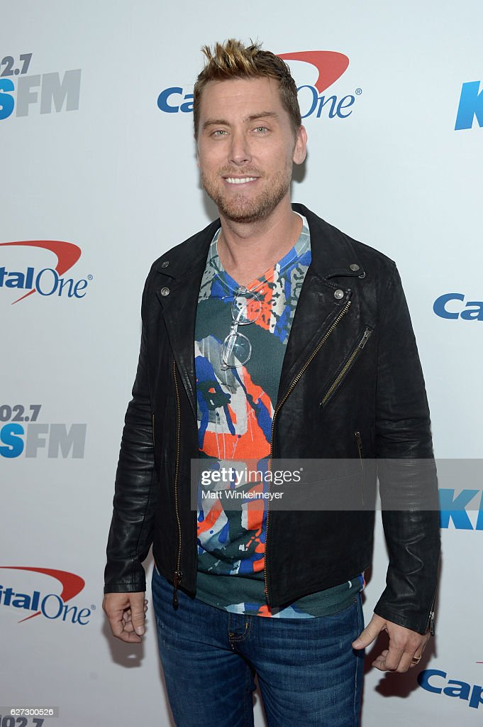 TV personality/recording artist Lance Bass attends 102.7 KIIS FM's Jingle Ball 2016 at Staples Center on December 2, 2016 in Los Angeles, California.