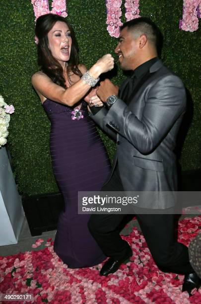 TV personality/restaurateur Lisa Vanderpump and boxer Victor Ortiz attend the grand opening of Pump Lounge hosted by Lisa Vanderpump and Ken Todd at...