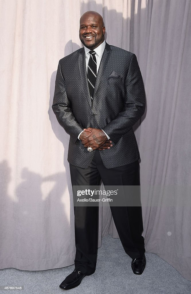 TV personality/retired basketball player Shaquille O'Neal arrives at the Comedy Central Roast of Justin Bieber on March 14 2015 in Los Angeles...