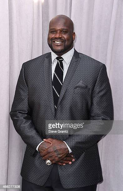 TV personality/retired basketball player Shaquille O'Neal attends The Comedy Central Roast of Justin Bieber at Sony Pictures Studios on March 14 2015...