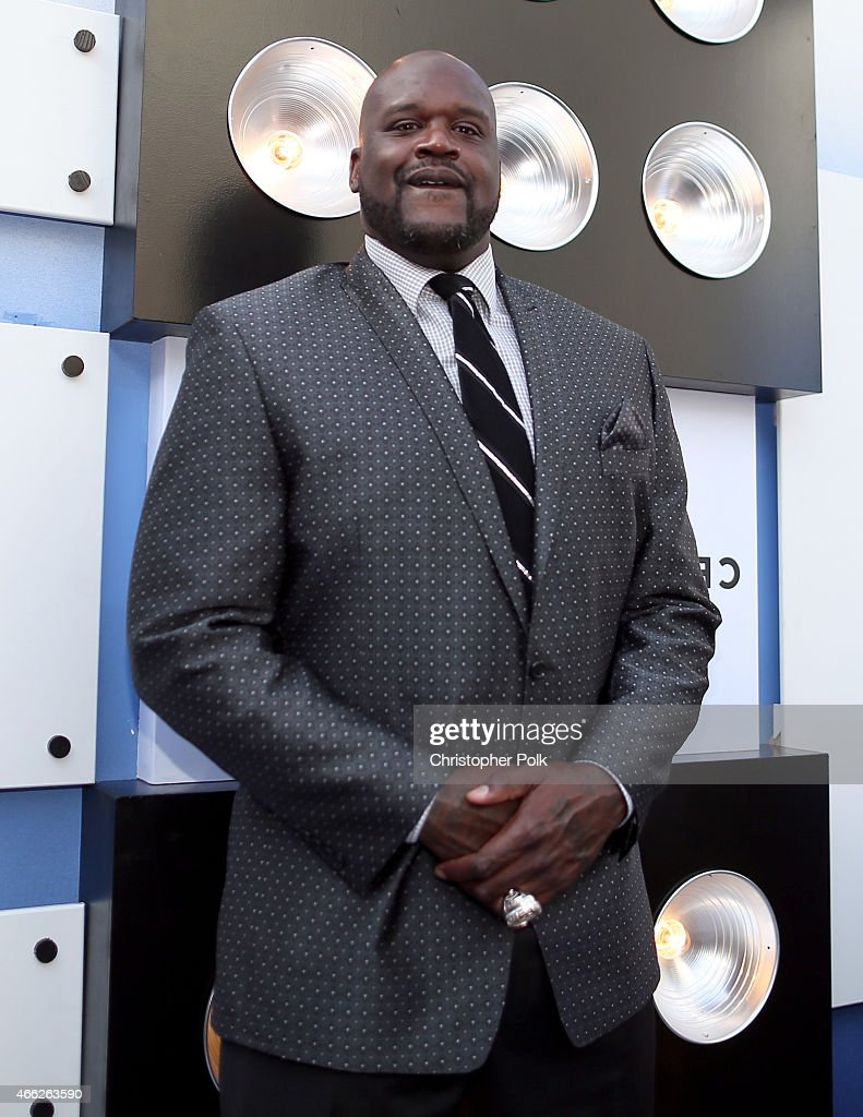 TV personality/retired NBA player <a gi-track='captionPersonalityLinkClicked' href=/galleries/search?phrase=Shaquille+O%27Neal&family=editorial&specificpeople=201463 ng-click='$event.stopPropagation()'>Shaquille O'Neal</a> attends The Comedy Central Roast of Justin Bieber at Sony Pictures Studios on March 14, 2015 in Los Angeles, California.