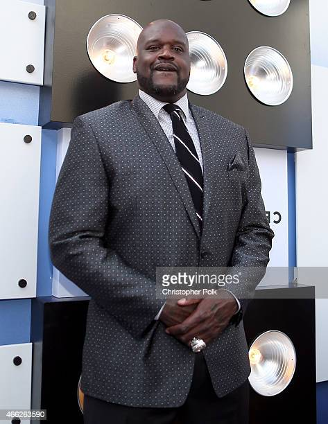 TV personality/retired NBA player Shaquille O'Neal attends The Comedy Central Roast of Justin Bieber at Sony Pictures Studios on March 14 2015 in Los...