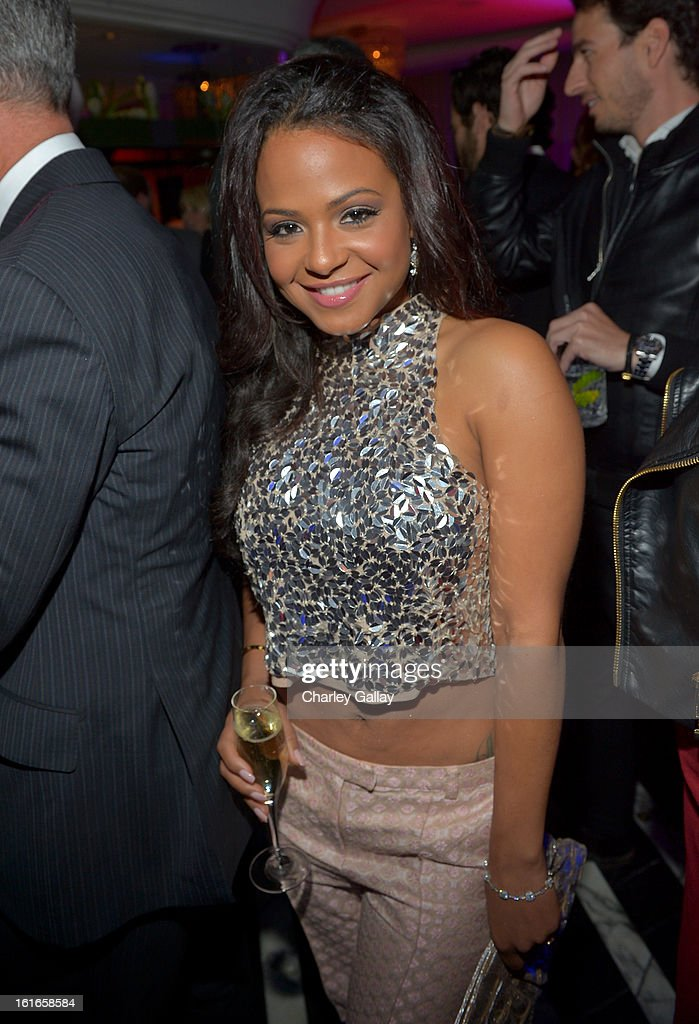 TV personality/singer Christina Milian attends the Topshop Topman LA Opening Party at Cecconi's West Hollywood on February 13, 2013 in Los Angeles, California.
