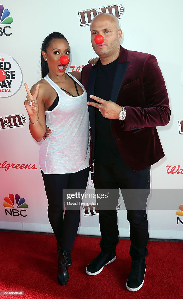 TV personality/singer Mel B (L) and husband producer Stephen Belafonte attend the Red Nose Day Special on NBC at the Alfred Hitchcock Theater at Alfred Hitchcock Theater at Universal Studios on May 26, 2016 in Universal City, California.