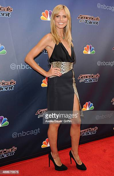 TV personality/supermodel Heidi Klum arrives at 'America's Got Talent' red carpet event at the Dolby Theatre on April 22 2014 in Hollywood California