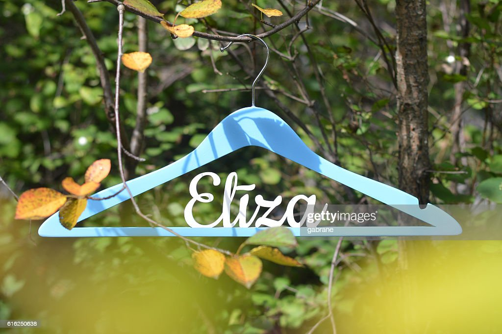 Personalized wood hanger : Foto de stock