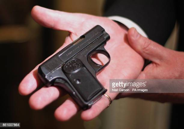 A personallyengraved pistol that belonged to Lord Mountbatten which Irish police are handing back to his family at a ceremony at the Ambassadors...