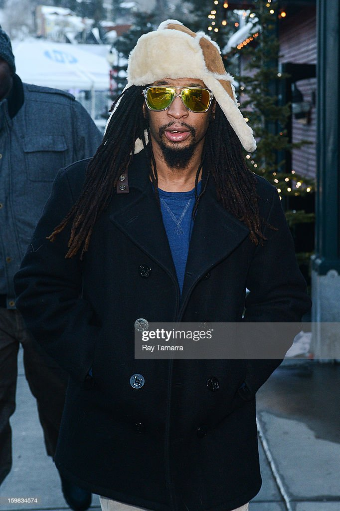 TV personaltiy Lil Jon enters the Nikki Beach Lounge at the Sky Lodge on January 20, 2013 in Park City, Utah.