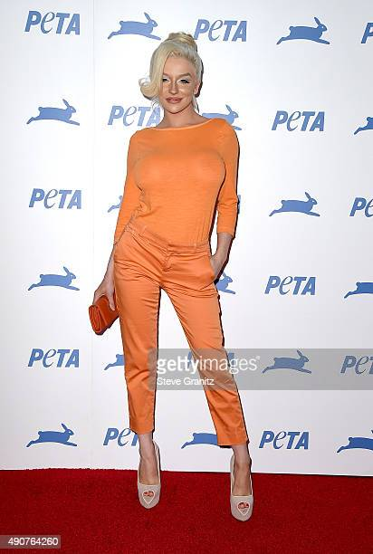 TV personlaity Courtney Stodden attends PETA's 35th Anniversary Party at Hollywood Palladium on September 30 2015 in Los Angeles California