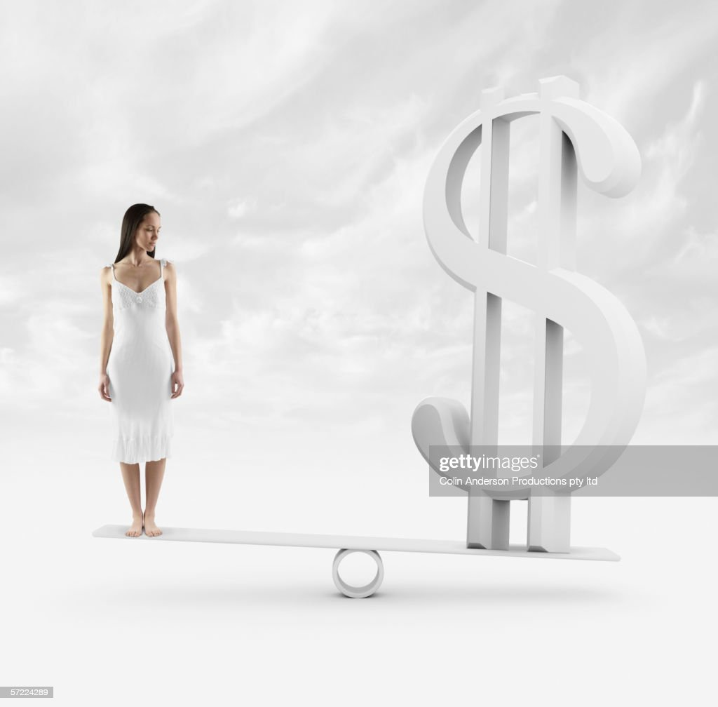 A persons financial worth : Stock Photo