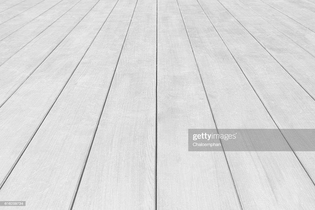 Perspective White wood panel : Foto de stock