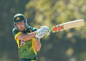 Perspiration falls from Cameron White of Australia 'A' as he bats during the Cricket Australia Quadrangular Series Final match between Australia 'A'...