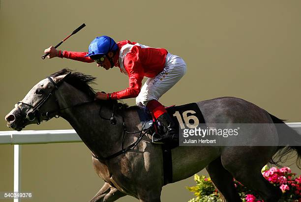 Persuasive ridden by Frankie Dettori wins The Sandringham Handicap Stakes Race run during Day Two of Royal Ascot at Ascot Racecourse on June 15 2016...
