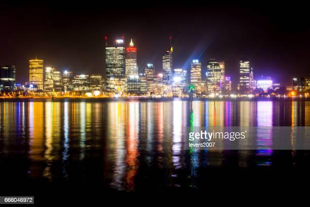 Perth city at night, Western Australia