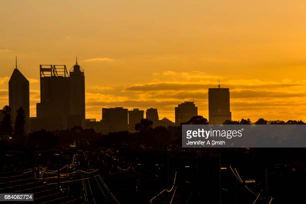 Perth City at sunset