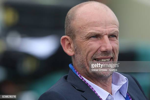 Perth Glory's head coach Kenny Lowe before the match against the Wanderers at Parramatta Stadium Sydney Australia Sunday 26th January 2014