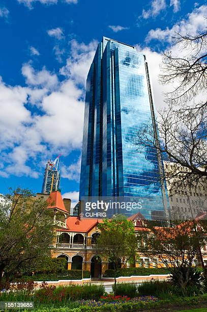 Perth Highrise building and old house
