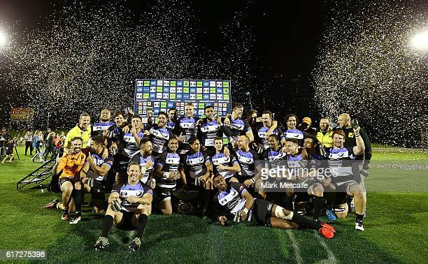 Perth Spirit pose for a team photo after victory in the 2016 NRC Grand Final match between the NSW Country Eagles and Perth Spirit at Scully Park on...