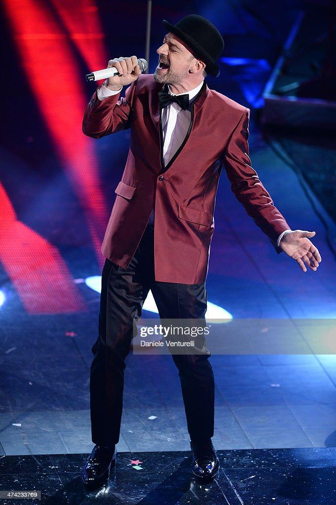 Perturbazione attends closing night of the 64th Festival di Sanremo 2014 at Teatro Ariston on February 22, 2014 in Sanremo, Italy.
