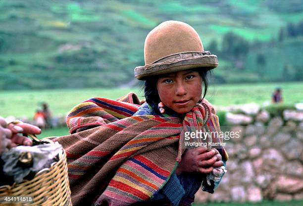 Peru Chinchero Market Portrait Of Local Girl