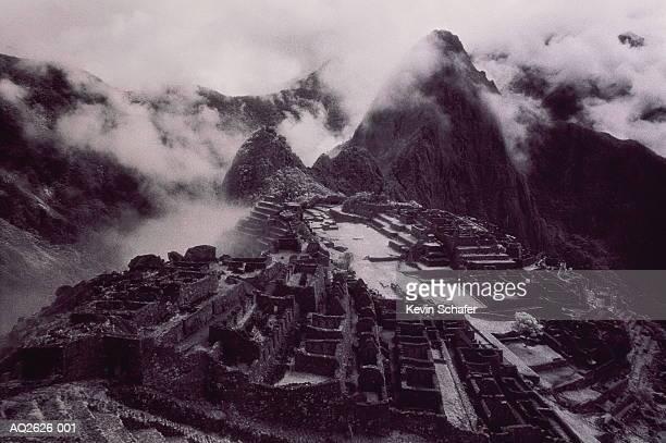 Peru, Cuzco, Machu Picchu, Inca Ruins (infrared B&W)