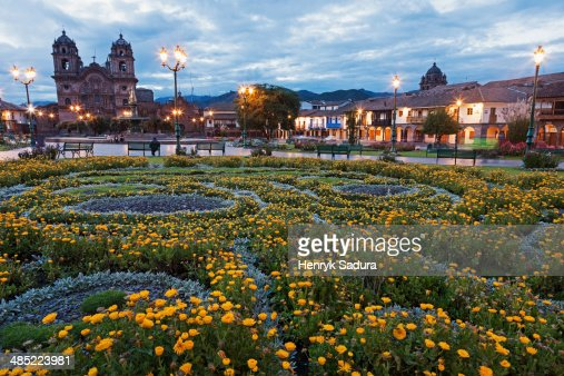 Peru, Cuzco, View to cathedral