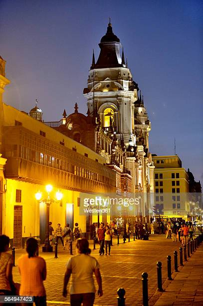 Peru, Lima, UNESCO world heritage site, Basilica Cathedral of Lima