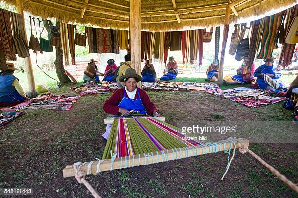 Development project of CECADE villagers get trained in renewable energies and traditional handicrafts Women in textile work