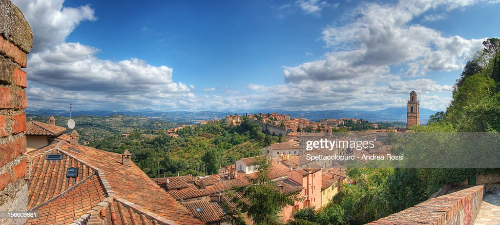 Perugia town : Stock Photo