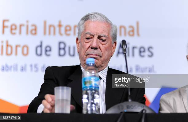 Peru's Nobel Prize Mario Vargas Llosa during a press conference at the Buenos Aires International Book Fair in Buenos Aires Argentina on Wednesday...
