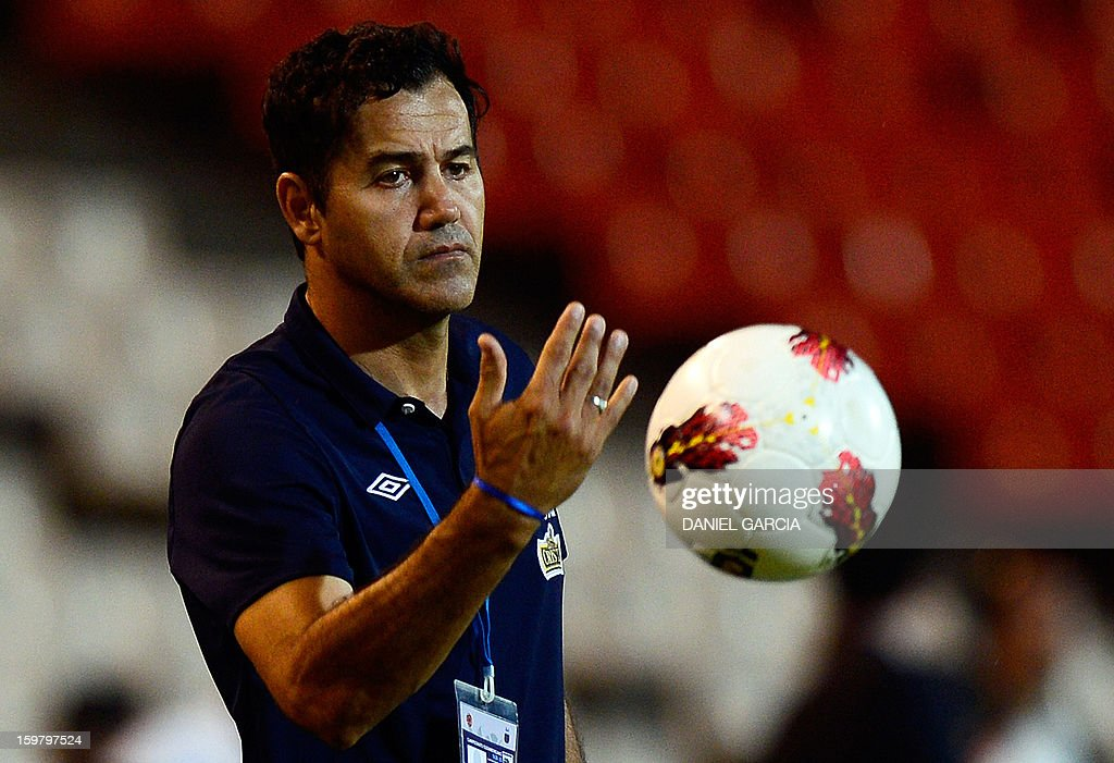 Peru's team coach Daniel Ahmed gestures during their South American U-20 final round football match against Uruguay at Malvinas Argentinas stadium in Mendoza, Argentina, on January 20, 2013. Uruguay won by 3-1. Four teams will qualify for the FIFA U-20 World Cup Turkey 2013.