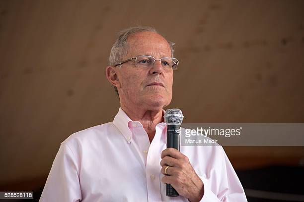 Peruvian Presidential candidate Pedro Pablo Kuczynski attends the Agro National Meeting with representatives and producers of agricultural forestry...