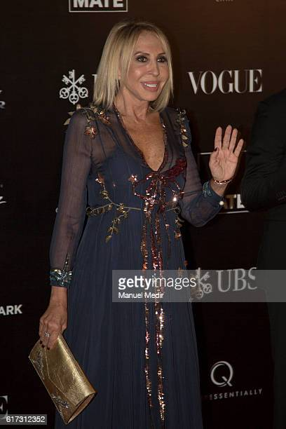 Peruvian tv host Laura Bozzo poses during Gala MATE 2016 for the inauguration of new display spaces and exhibitions at MATE on October 22 2016 in...