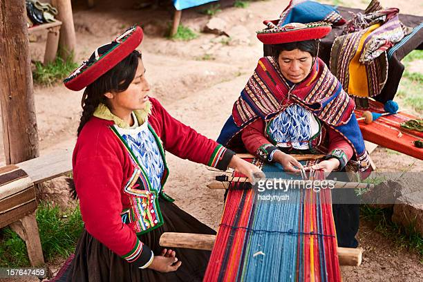 Peruvian woman weaving, The Sacred Valley, Chinchero
