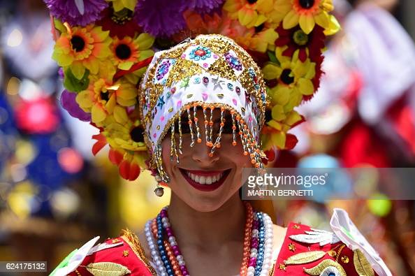 Peruvian women dressed in ethnic attire perform on the sidelines of AsiaPacific Economic Cooperation Summit in Lima on November 18 2016 AsiaPacific...