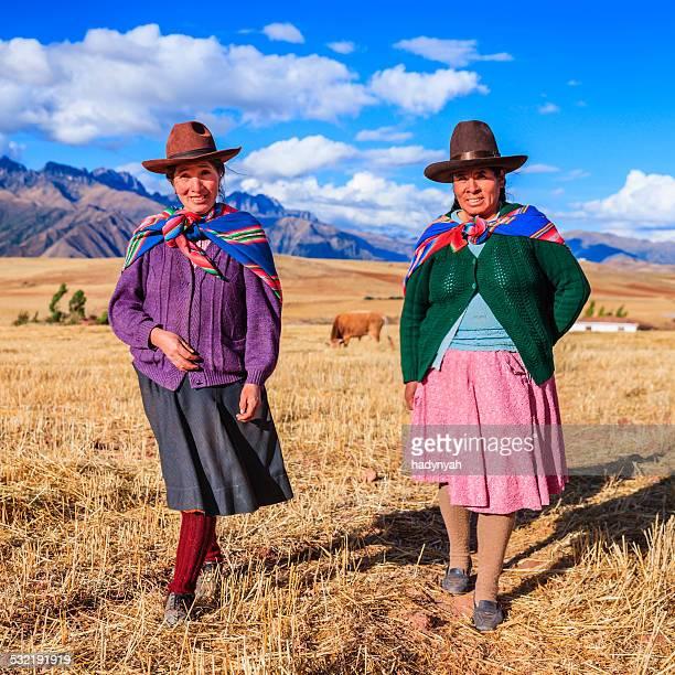 Mulher Peruana em roupa de cruzamento), a sagrada Vale