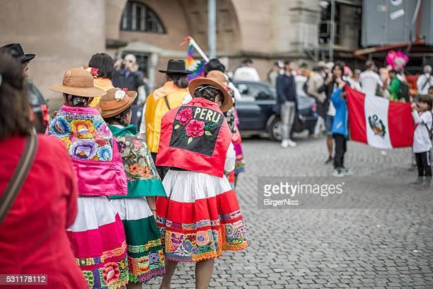 Peruvian women in the Copenhagen Whitsun Carnival, 2016