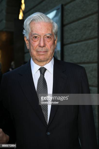 Peruvian writer and Nobel Prize winner Mario Vargas Llosa during the Easter Festival on April 10 2017 in Salzburg Austria